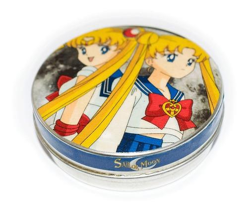 Imagen 1 de 3 de Pastillero Metálico Multiuso Lata Sailor Moon Cristal