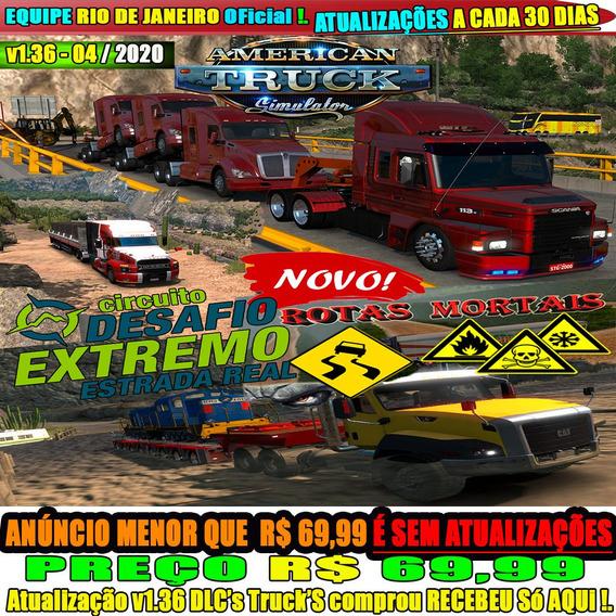 American Truck Simulator Pc Rotas Mortais Mega Cargas Reais