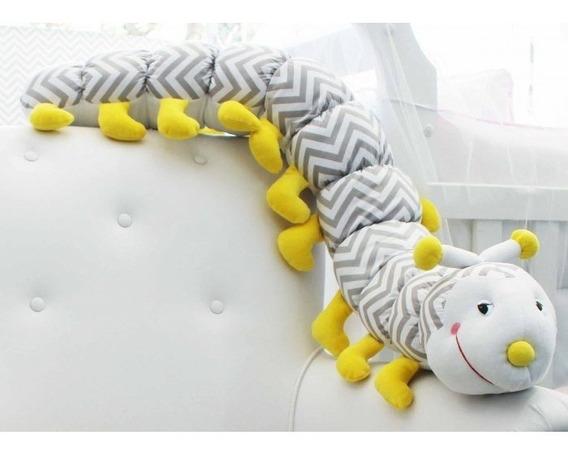Centopeia Amarela De Metro Infantil Decoração Quarto Menina Menino Oferta