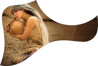 Escudo Palheteira Resinada Violão Aço Estilo Taylor Woman