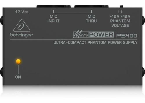 Behringer Ps400 Fuente Alimentación Fantasma-phantom Power