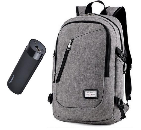Combo Mochila P/notebook + Cargador Portatil 5000 Mah K1
