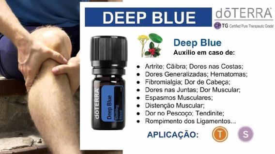Óleo Essencial Deep Blue Doterra Importado 5 Ml Original Perfeito P/ Massagem Corporal