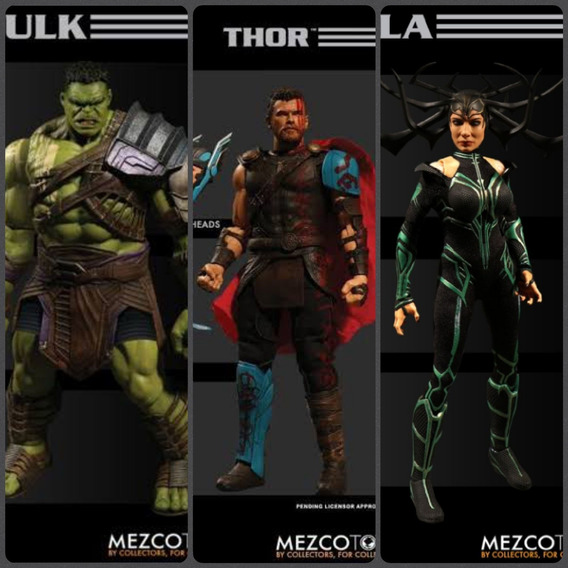 Hulk Thor Hela Ragnarok Mezco One:12