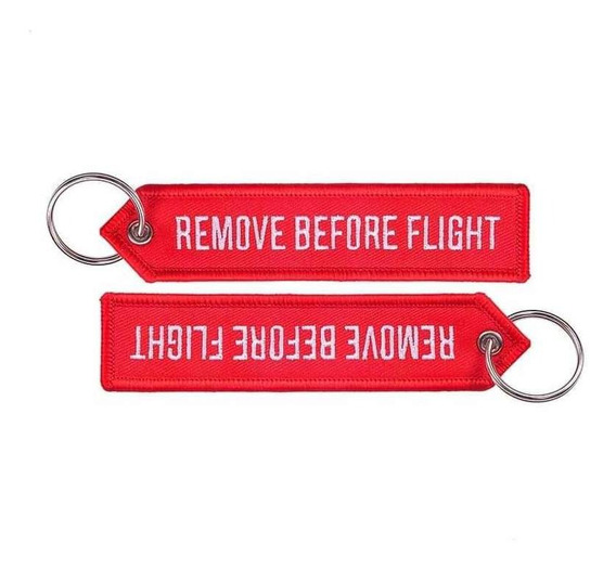 Llavero Keychain Remove Before Flight