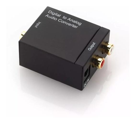 Conversor Audio Digital Cabo Optico Ou Coaxial P/ Rca Analog