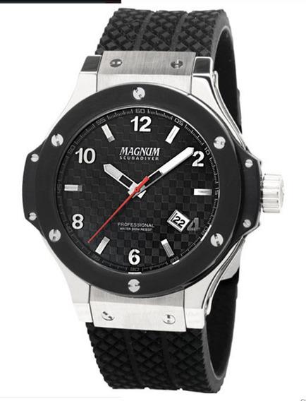 Relógio Magnum Scubadiver Ma30963t Safira Hublot