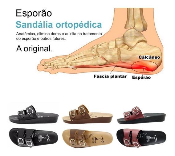 3 Pares Sandália Ortopédica Fascite Plantar Esporão Calcâneo
