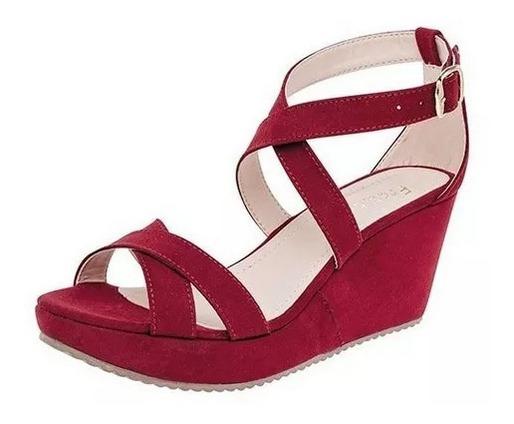 Sandalia Roja Dama (plataforma)