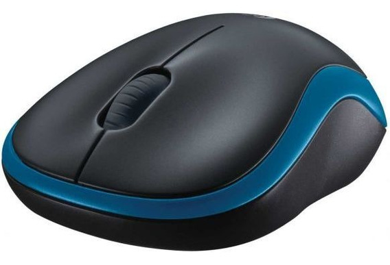 Mini Mouse Wireless Logitech M185 - Azul