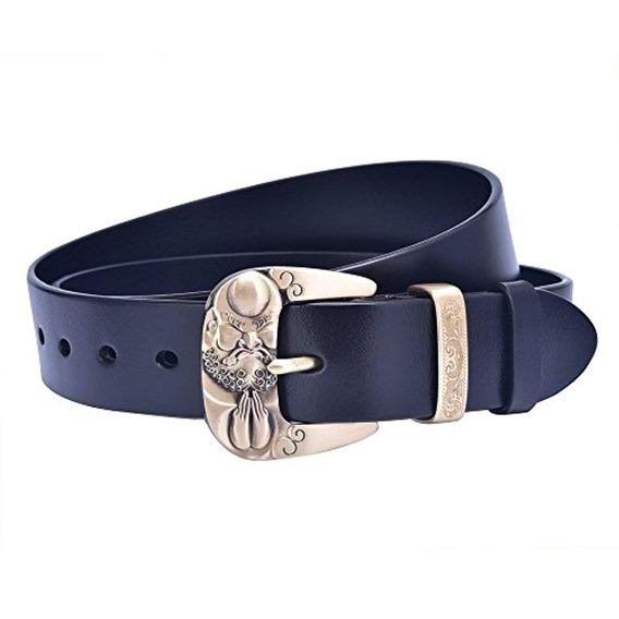Talleffort Cinturón De Vestir Hebilla Cuero