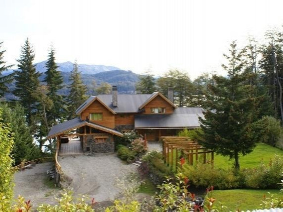 Alquiler Turist.casa Categor 550m2 H/16 Pers A Mts De Playa N.huapi Vista Lago
