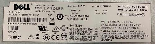 Fonte Servidor Dell Poweredge 1950 Pn Z670p-00 Nf Garantia