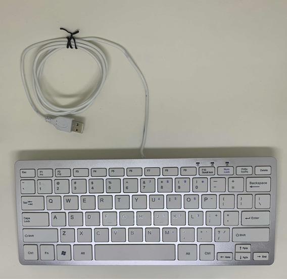 Teclado Windows Alumínio Estilo Mac Apple Com Fio