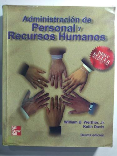 Imagen 1 de 1 de Administración De Personal Y Recursos Humanos. Davis. 5 Edi.