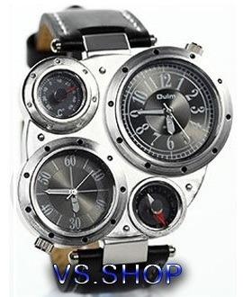 Relógio Militar Oulm Dual Time C/ Bússola E Termômetro Cores