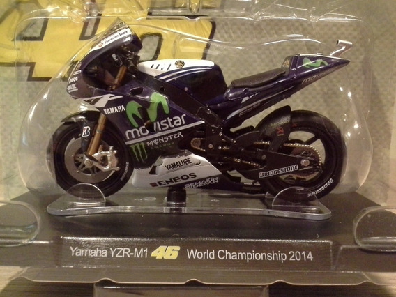 Miniatura Moto Valentino Rossi Vr46 Motogp 2014, Escala 1:18