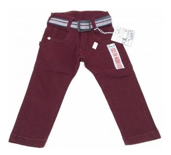 Calça Horock Jeans Infantil Vinho Menino.