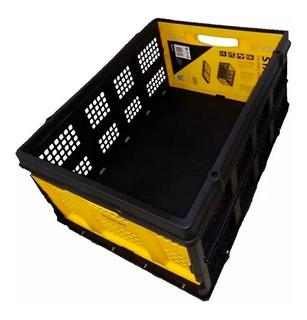 Cesto Plegable Organizador Plastico 25kg Capacidad Stanley