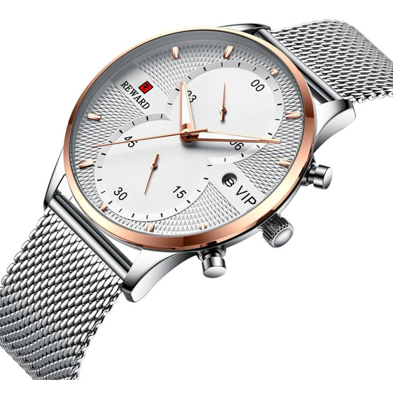 Relógio De Quartzo Milanese Loop Noite Esportes-prata