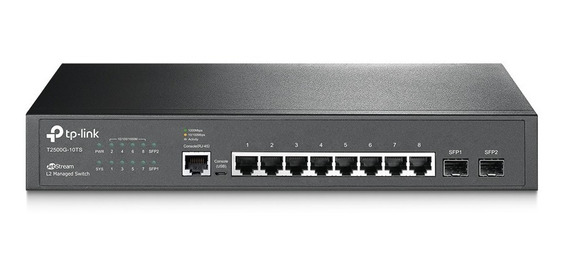 Tp-link Switch Gerenc L2 8p+2slots Sfp Jetstream T2500g 10ts