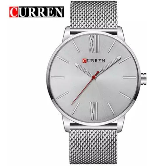 Relógio Masculino Curren Analógico 8238 Prata
