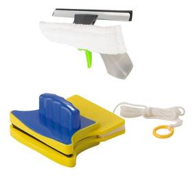 Rodo Limpa Vidros Magnético Com Limpa Vidros Spray