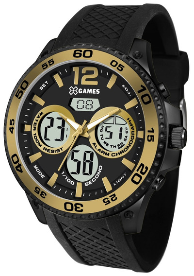 Relógio Xgames Masculino Anadigi Xmnpa005 Bxpx Preto