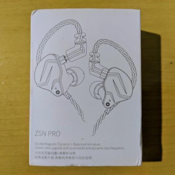 Fone De Ouvido Kz Zsn Pro Sem Microfone
