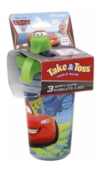 Set 3 Vasos De Cars Disney 10oz / 296ml