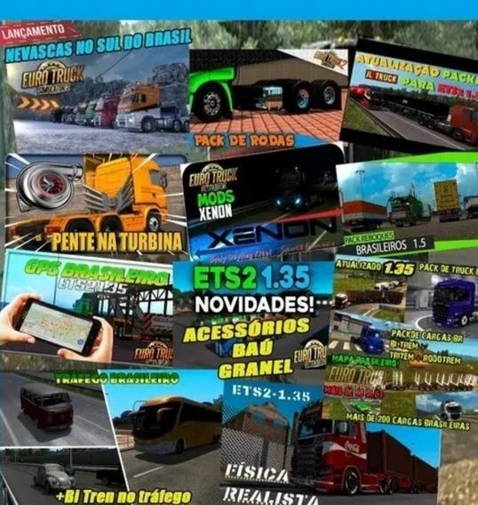 Euro Truck Simulator 2 Mod Brasil 1.35 Caminhão + Ônibus