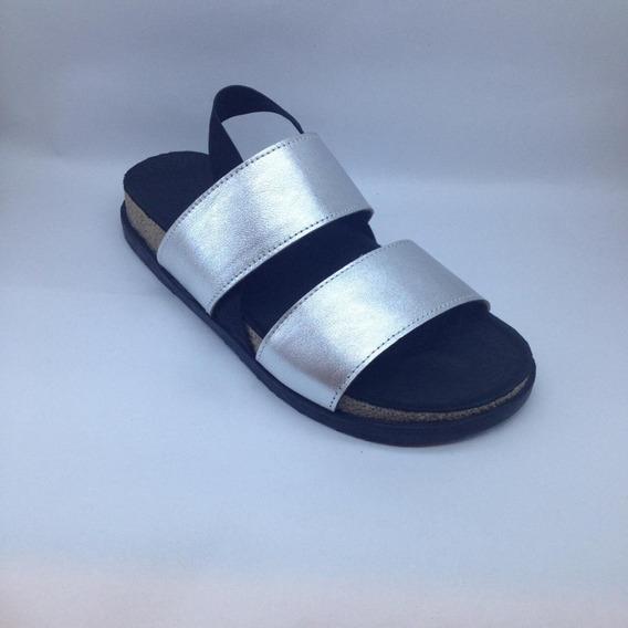 Zapato Mujer Sandalia Birk Dos Tiras Cuero V20 #280