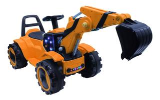 Auto Retroexcavadora A Bateria Recargable Son Sonido + A - E