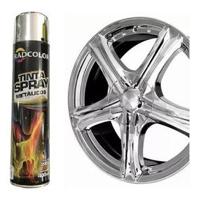 Spray Cromado 400ml Radcolor Tinta Metalizada P/ Rodas