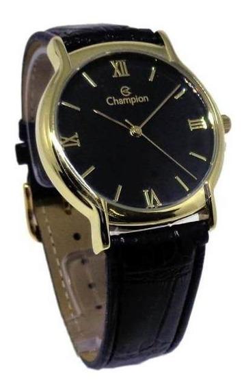 Relógio Champion Masculino Pulseira De Couro Ch22206p
