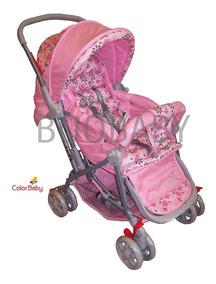 Carrinho De Bebê Berço / Passeio Júnior Rosa Color Baby