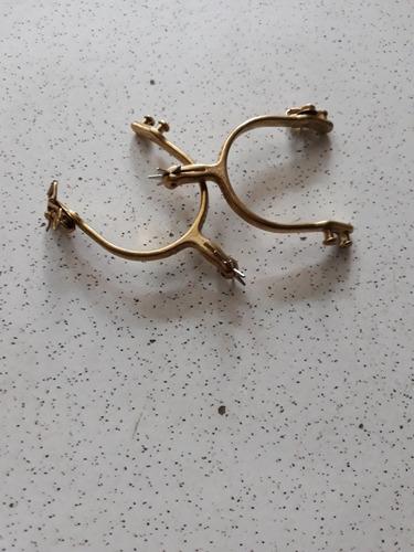 Espora Dourada De Metal
