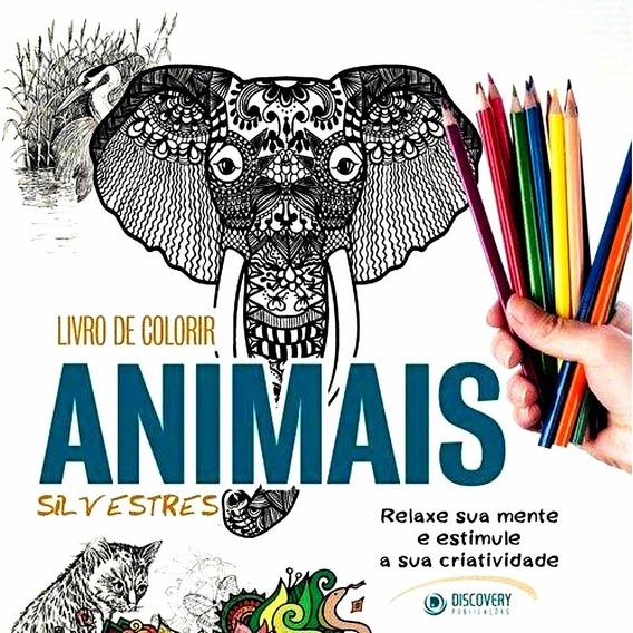 Animais Silvestres Livro Para Colorir Moldes Bordar Estampar