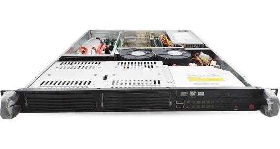 Servidor 1u Supermicro Xeon 8gb Ddr3 500gb Com Trilhos