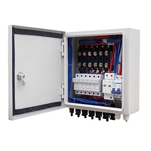 6 String Pv Combiner Box 10a Breaker Para Panel Solar Off Gr