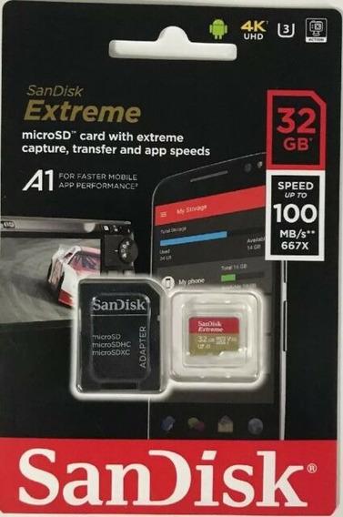Cartão Memória Microsdhc 32gb Sandisk Extreme 60mb/s Cl 10