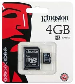 10 Unidades De Cartões De Memoria Microsd Kingstone 4gb