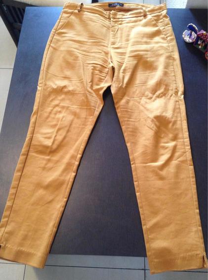 Bershka Pantalon Color Mostaza Talla 28