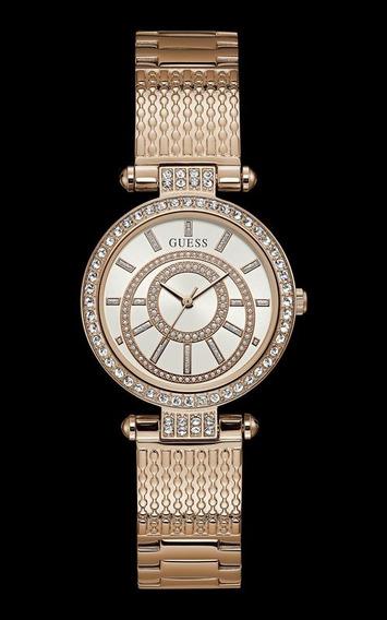 Relógio Guess Feminino Rosé Com Pedras 92666lpgdra3