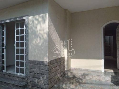 Casa Com 4 Dormitórios, 220 M² - Venda Por R$ 650.000,00 Ou Aluguel Por R$ 3.800,00/mês - Centro - Niterói/rj - Ca1851