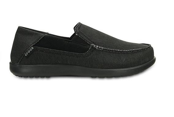 Mocasin Alpargata Hombre Crocs Tela Goma Negro - Hcal00724