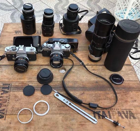 Câmera Canon Ftb Analógica Kit Colecionador