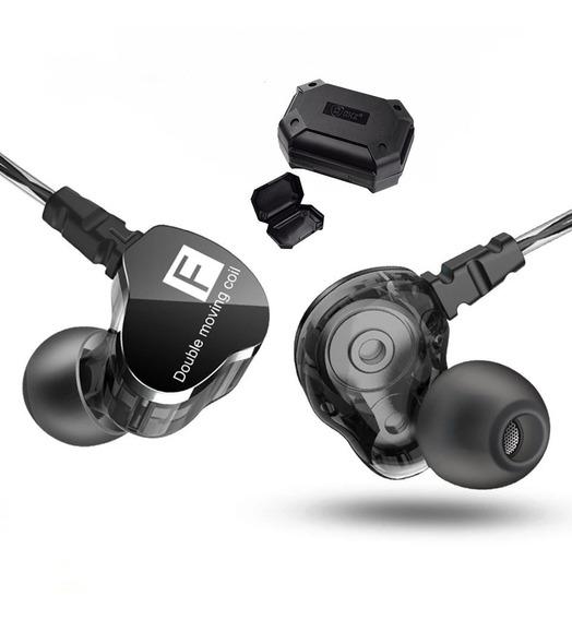 Shure Se215 = Fone In Ear Qkz Kd9 Dual Driv Retorno De Palco