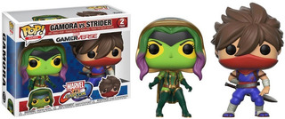 Funko Pop - Capcom - Thanos - Gamora - Strider - Hulk
