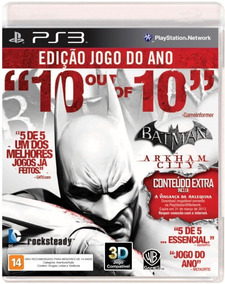 Batman Arkham City Jogo Do Ano Ps3 Mídia Física Português